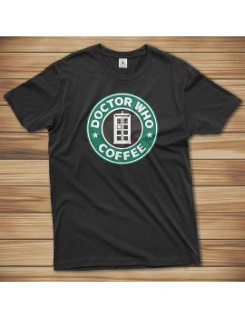 T-shirt Doctor Who Coffe Time