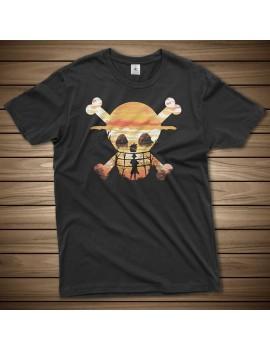 T-shirt One piece straw hat...